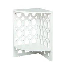 雅客集白色镂空三角桌WN-15171WH