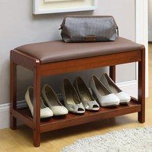 雅客集巴伦实木换鞋凳WN-16217WA 门口鞋架 鞋店试穿鞋子沙发凳