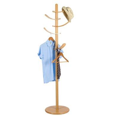 雅客集旋轉弧形掛桿衣帽架WN-17099NA 落地衣架客廳臥室內掛衣架