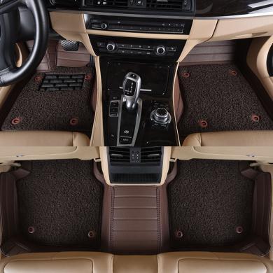 車愛人 橫條絲圈雙層腳墊可拆卸全包圍汽車地毯專車專款定制