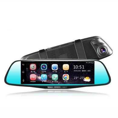 路探 后視鏡行車記錄儀星光夜視4G GPS定位器導航儀藍牙倒車影像WIFI
