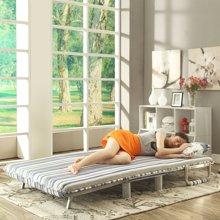 【布艺休闲沙发】雅客集爱丝特条纹绒布沙发折叠床FB-15025