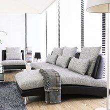 皇家愛慕皮布沙發大小戶型客廳貴妃轉角沙發 現代簡約可拆洗布藝沙發組合