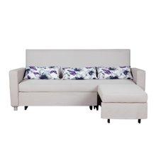 【转角沙发 带贵妃位 可作床】雅客集布兰琪沙发床大号FB-16035GA