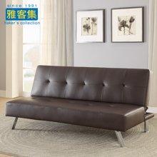 【皮质沙发床 多档可调】雅客集比其尔休闲沙发FB-16051BR