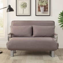 【可拆洗布艺休闲沙发】雅客集爱丝特灰色棉麻折叠沙发床FB-15025GA 客厅小沙发