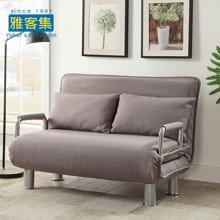 雅客集爱丝特灰色棉麻折叠沙发床FB-15025GA 客厅小沙发