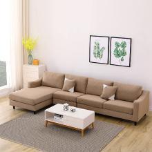 皇家愛慕貴妃布藝沙發可拆洗大小戶型客廳現代簡約轉角布沙發組合家具