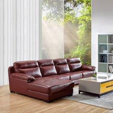 皇家愛慕現代簡約客廳真皮沙發組合整裝 轉角頭層牛皮沙發