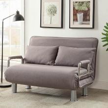 雅客集愛絲特灰色棉麻沙發折疊床FB-15025GA 小戶型布藝客廳沙發 書房辦公室午休沙發床