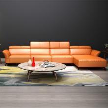 HJMM真皮沙发现代简约北欧极简头层牛皮客厅整装转角沙发