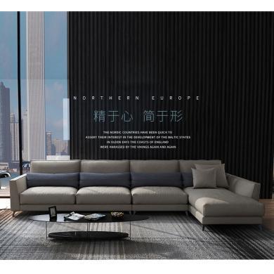 HJMM北欧布艺沙发客厅整装家具小户型现代简约可拆洗休闲布沙发