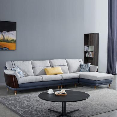 HJMM北歐沙發輕奢小戶型網紅款ins風簡約現代客廳科技布沙發轉角組合