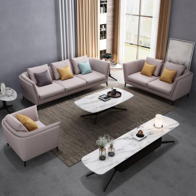 HJMM现代简约北欧可拆洗布沙发小户型转角客厅家具