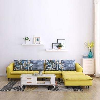 HJMM北歐真皮沙發極簡頭層牛皮客廳小戶型全套家具轉角沙發組合