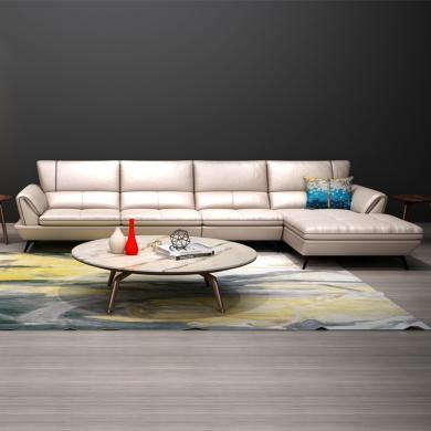 HJMM北欧轻奢真皮沙发现代简约客厅户型意式头层牛皮整装