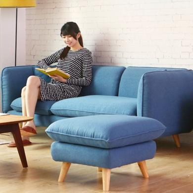 HJMM約小戶型布藝沙發組合現代北歐客廳家具組合休閑沙發