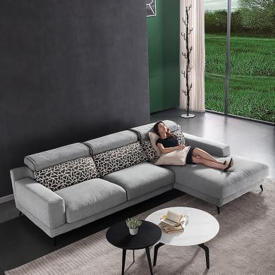 HJMM現代簡約布藝羽絨沙發北歐輕奢后現代三人沙發小戶型家具
