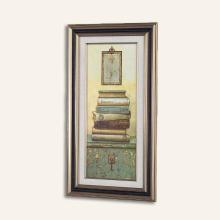 墨菲有框画墙画 两联书本装饰画 欧式复古客厅办公室挂画玄关壁画