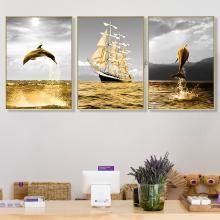 DEVY 现代简约客厅装饰画大气沙发背景墙油画壁画欧式美式墙画挂画