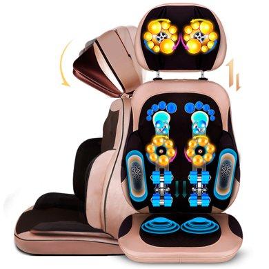 桔子Orange頸椎按摩器 按摩靠墊全身 頸部腰部肩部按摩椅墊 肩頸護頸脖子按摩儀三節款