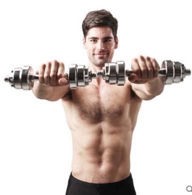居康鋼制電鍍啞鈴10公斤啞鈴套裝 健身器材 啞鈴男士