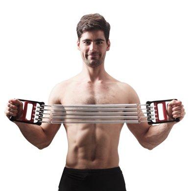 居康 弹簧拉力器 扩胸器 多功能臂力胸肌体育锻炼健身器材家用