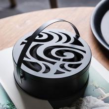 摩登主妇摩登主妇创意铁艺蚊香架家用带盖防火蚊香盒日式复古便携香薰炉