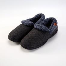 多样屋栖心男士带跟棉拖鞋2018新款不带跟男款冬棉拖家居拖鞋