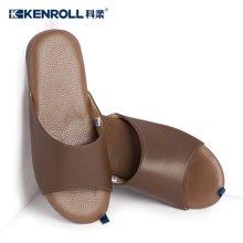 KENROLL男女四季家居室内羊皮拖鞋 软底静音轻便木地板防滑拖鞋