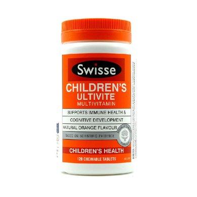 【香港直邮】澳洲瑞思swisse儿童维生素咀嚼片120粒*1瓶装