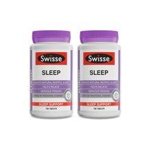 2瓶*澳洲swisse睡眠片褪黑素 瑞思进口保健品帮助睡眠100粒【香港直邮】