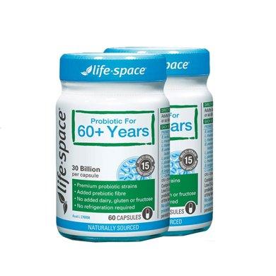 2瓶*澳洲益生菌Life space老人益生菌胶囊60+ 60粒【海外直邮】