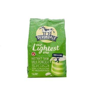 1袋*澳洲德運Devondale脫脂奶粉脫脂高鈣高蛋白 澳洲進口1kg【香港直郵】
