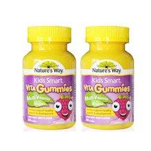 2瓶装 澳洲直邮 Natures Way 佳思敏 儿童综合维生素加蔬菜粉软糖60粒/瓶