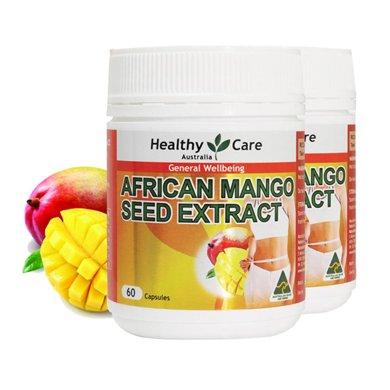 【香港直�]】澳洲Healthy care非洲�p肥芒果籽60粒*2瓶�b