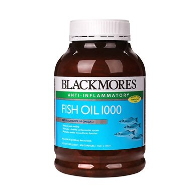 1瓶*澳洲Blackmores澳佳寶魚油深海魚油軟膠囊 含歐米伽 400粒(有腥味)【香港直郵】