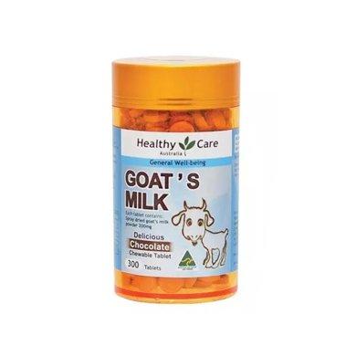 1瓶*澳洲Healthy Care山羊奶钙片儿童补钙 钙片VD奶片 300粒【香港直邮】