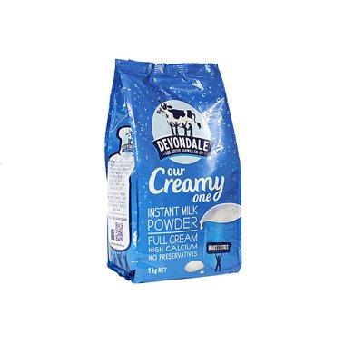 1袋*澳洲德運全脂奶粉Devondale全脂高鈣 澳洲進口1kg【香港直郵】