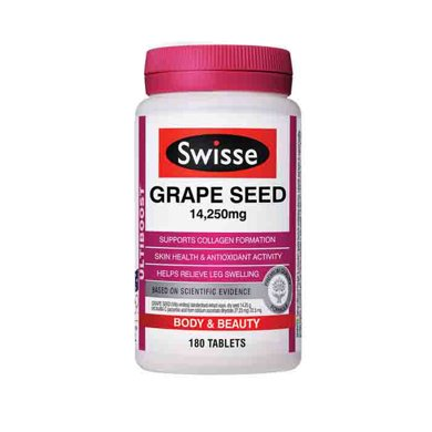 【香港直�]】澳洲瑞思swisse葡萄籽精�A花青素180粒*1瓶�b