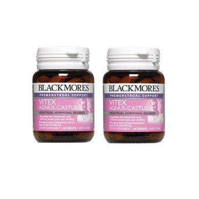 2瓶*澳洲澳佳��圣��莓片Blackmores圣��莓精�A片 平衡�确置谡{理�期月�不�{痛� 促�M排卵40粒【香港直�]】