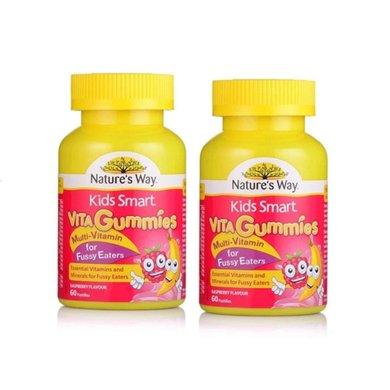 2瓶*澳洲Natures Way佳思敏偏食儿童复合维生素树莓口味60粒【香港直邮】