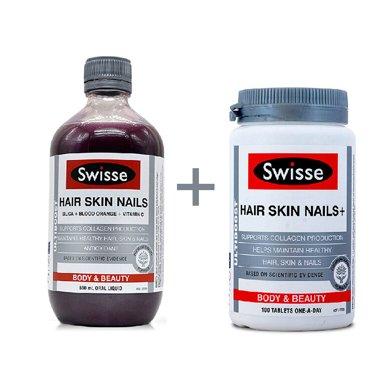 �M合*澳洲瑞思swisse�z原蛋白液500ml+澳洲Swisse�z原蛋白片100粒【香港直�]】