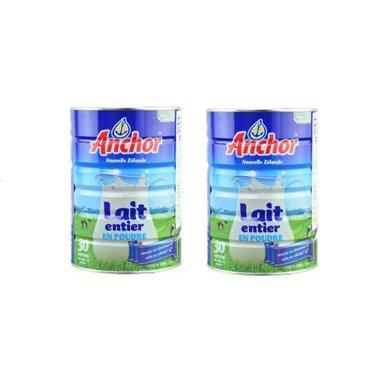 2罐*新西蘭安佳奶粉Anchor安佳全脂兒童孕婦成人補鈣奶粉900g【海外直郵】(保質期2020.3月,介意慎拍)