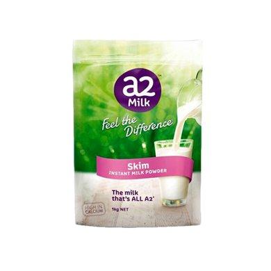 1袋*澳洲A2脫脂奶粉高鈣高蛋白a2成人奶粉兒童學生孕婦老人1kg【香港直郵】