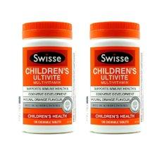 【香港直邮】澳洲swisse瑞思儿童维生素咀嚼片120粒*2瓶装