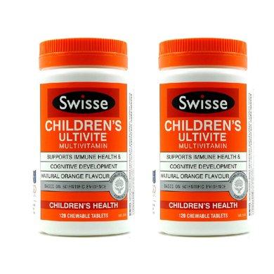 2瓶*澳洲swisse瑞思儿童维生素咀嚼片120粒【香港直邮】