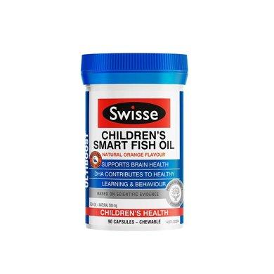 1瓶*澳洲Swisse儿童鱼油胶囊90粒【香港直邮】