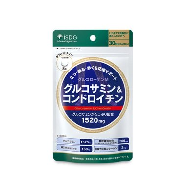1袋*日本ISDG維骨力 醫食同源WH氨糖硫酸軟骨素片劑進口保健品 240粒【香港直郵】