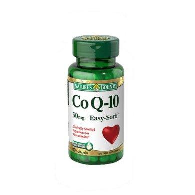1瓶*美國自然之寶輔酶Q10 NaturesBounty心臟輔酶Q10軟膠囊50mg 30粒【香港直郵】
